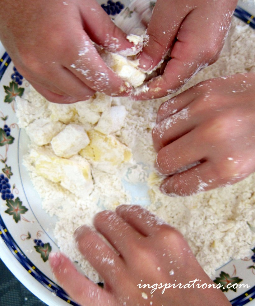 cookie making with kids