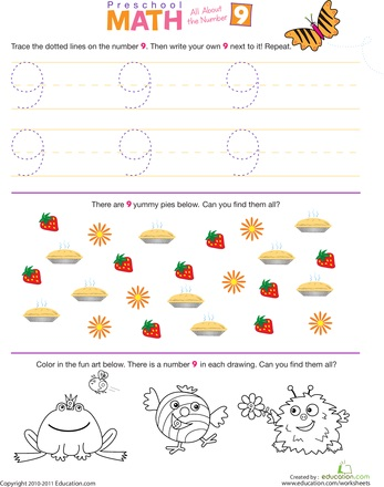 counting numbers math worksheet for kids