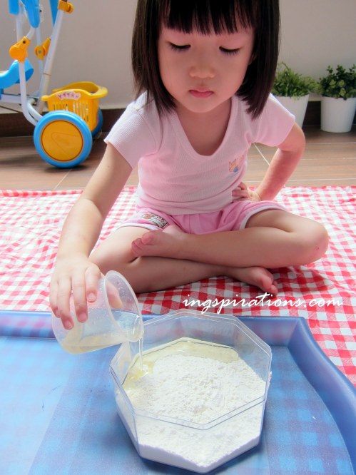 cloud dough for preschooler