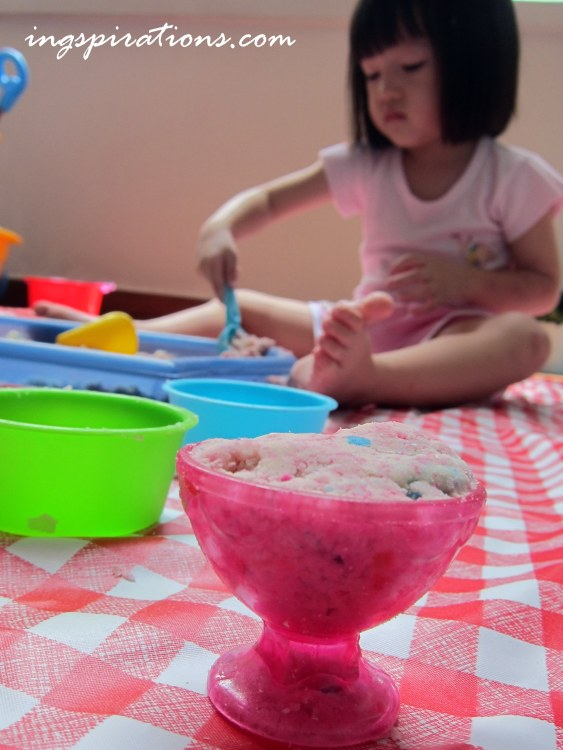 cloud dough sensory play