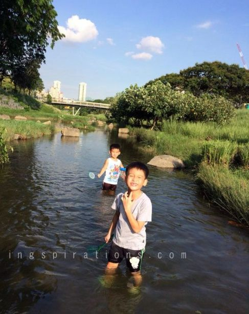 Bishan Park fishing river
