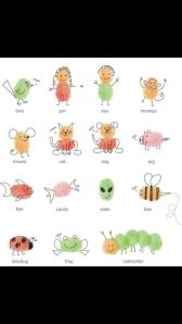 fingerprints art for kids