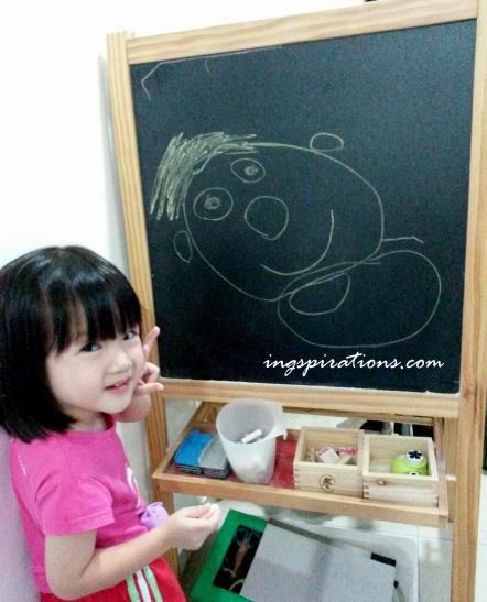preschooler, kids, drawing chalk