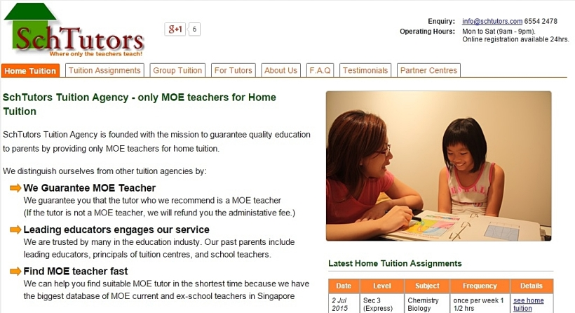 tutors MOE teachers