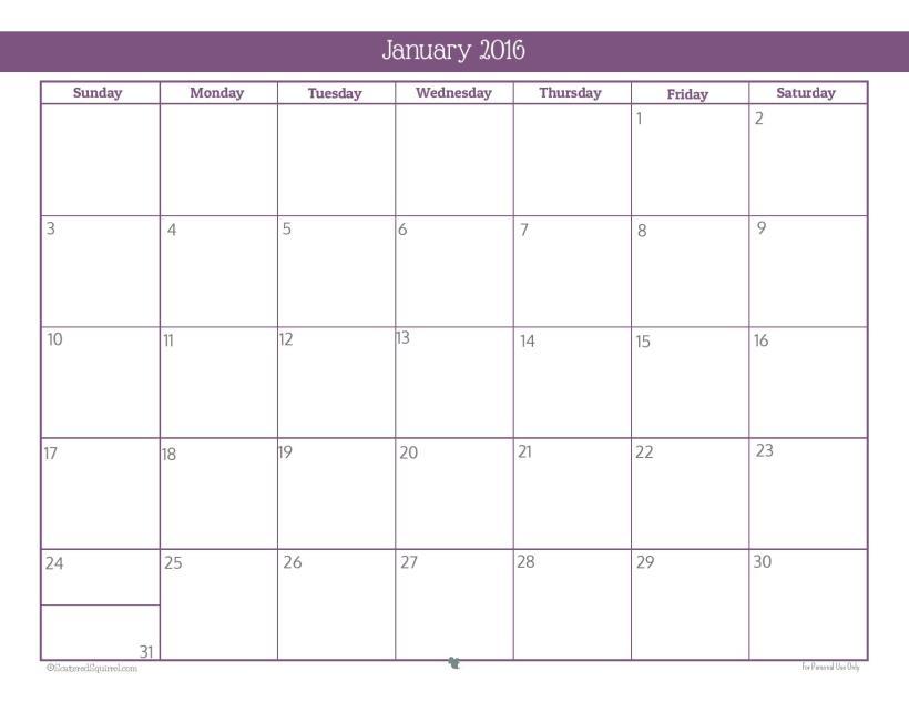 2016-Montly-Calendar-Printable